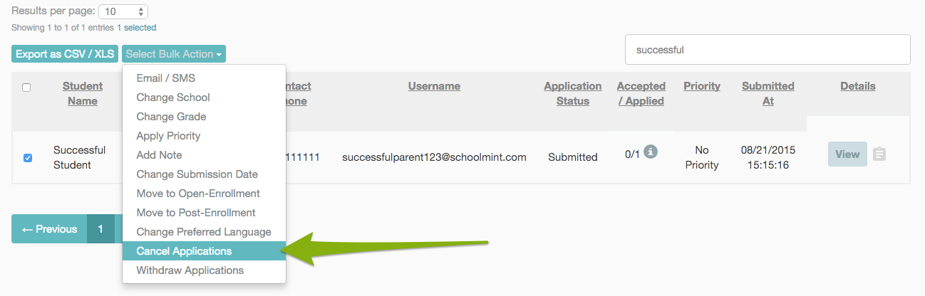 How To: Cancel an Application – SchoolMint